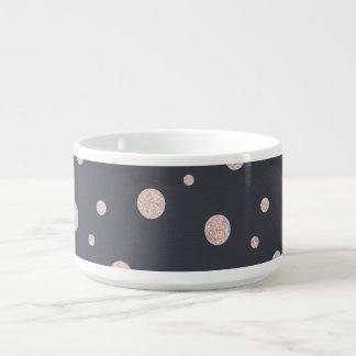 FAUX glitter rose gold blush dotty pattern Bowl