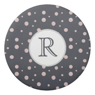 FAUX glitter rose gold blush dotty pattern Eraser