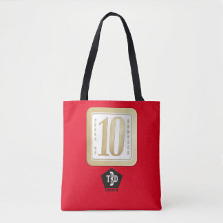 FAUX GOLD 10 year employee service award Tote Bag