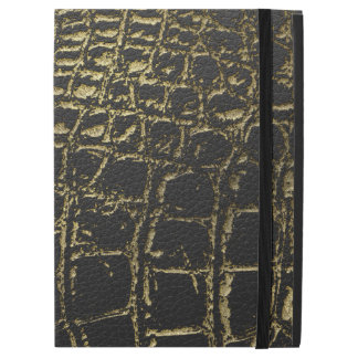 "Faux Gold and black Crocodile /Snake Skin iPad Pro 12.9"" Case"