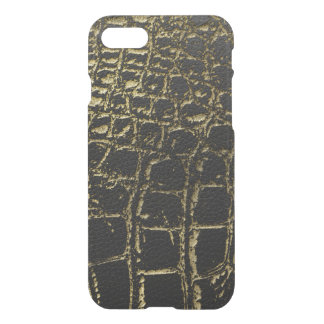 Faux Gold and black Crocodile /Snake Skin iPhone 8/7 Case