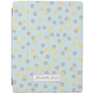 Faux Gold and Silver Confetti Personalized iPad Cover