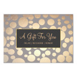 Faux Gold and Taupe Spa and Salon Gift Certificate