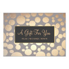 Faux Gold and Taupe Spa and Salon Gift Certificate Card
