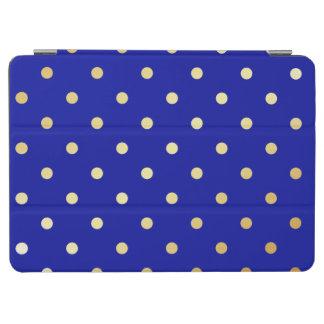 faux gold blue polka dots iPad air cover