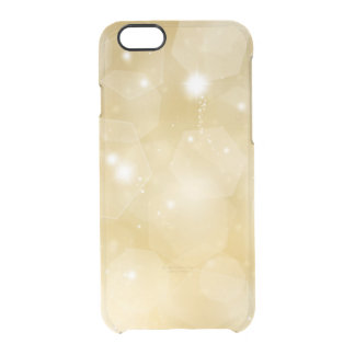 Faux gold bokeh bling hipster clear modern custom clear iPhone 6/6S case