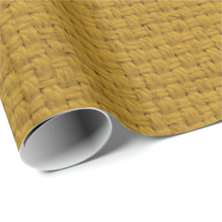 faux gold burlap pattern wrapping paper