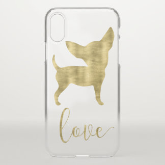 Faux Gold Chihuahua Love iPhone X Clearly™ Case