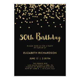 50th Birthday Invitations Announcements Zazzle CA