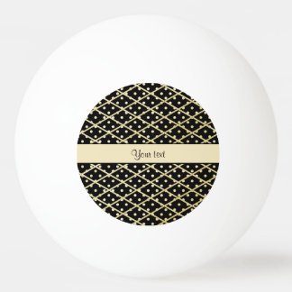 Faux Gold Diamonds & Polka Dots Ping Pong Ball