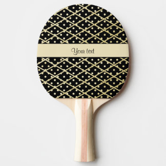 Faux Gold Diamonds & Polka Dots Ping Pong Paddle