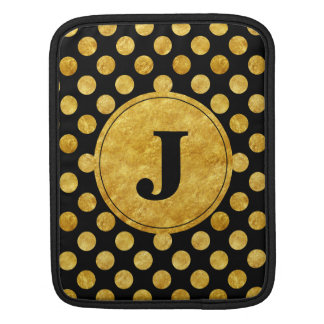 Faux gold dots pattern sleeve for iPads