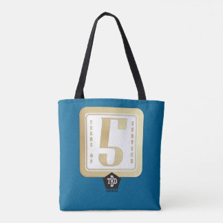 Faux gold employee 5 years service award tote bag