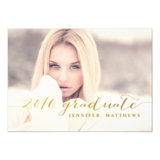 Faux Gold Foil | 2016 Graduation Party Invitation