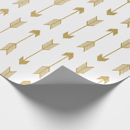 Faux Gold Foil Arrows Pattern