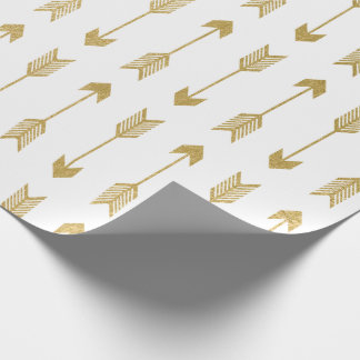 Faux Gold Foil Arrows Pattern Wrapping Paper