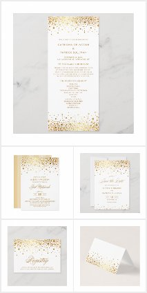 Faux Gold Foil Confetti Collection
