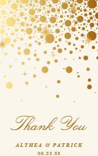 5fd48266a9c8 Faux Gold Foil Confetti Dots Thank You