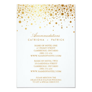 Faux Gold Foil Confetti Elegant Accommodations Car Card
