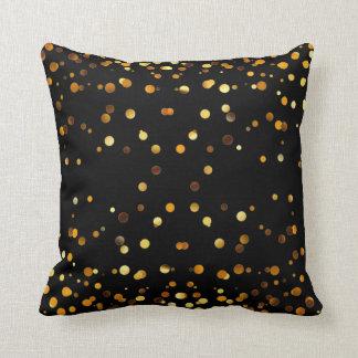 Faux Gold Foil Confetti Elegant Sparkles Throw Pillow
