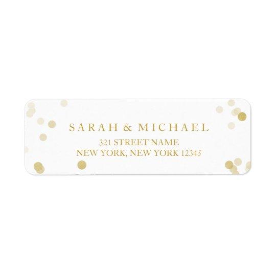 Faux Gold Foil Confetti Personalized