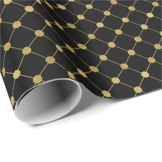 Faux Gold Foil Dot Pattern Holiday Wrapping Paper