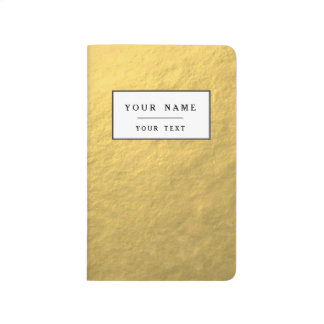 Faux Gold Foil Effect Printed Journal