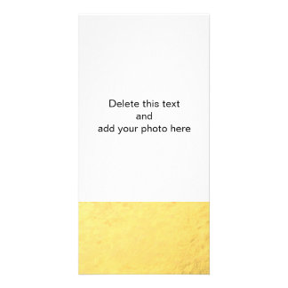 Faux Gold Foil Effect Printed Photo Card