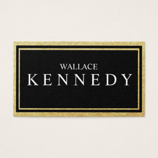 Faux Gold Foil Elegant Business Cards Black