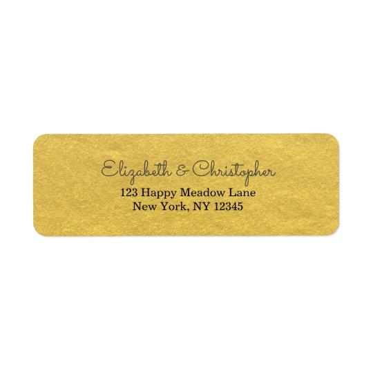 Faux Gold Foil Fancy And Elegant Return Address Label