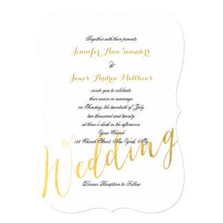Faux Gold Foil Glamor | Wedding Invitations