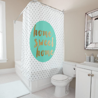 faux gold foil Home Sweet Home polka dots pattern