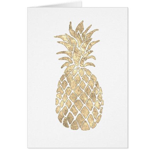 faux gold foil pineapple design card