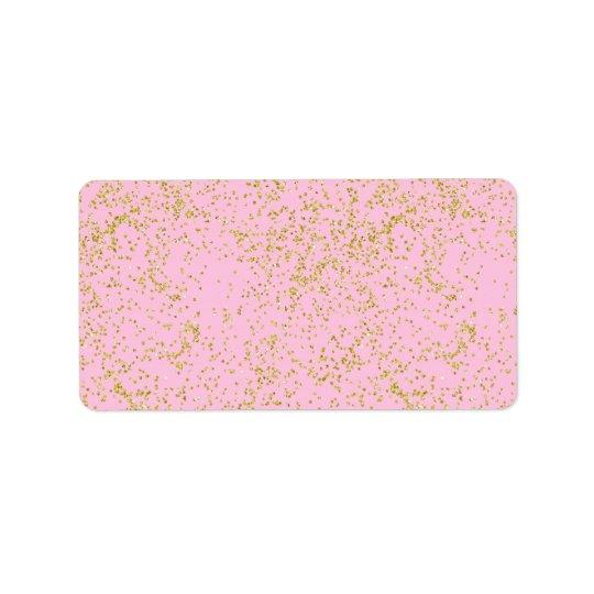 Faux Gold Foil Pink Background Sprinkle Glitter