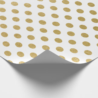Faux Gold Foil Polka Dot Pattern Wrapping Paper