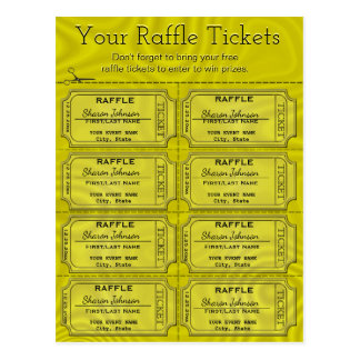 Faux Gold Foil Raffle Tickets Postcard