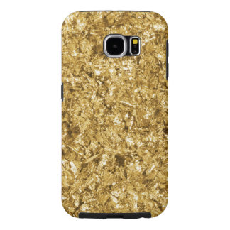 Faux Gold Foil Shavings Sparkle Pattern Samsung Galaxy S6 Cases