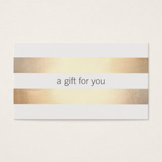 Faux Gold Foil  Striped Retail Gift Card