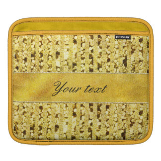 Faux Gold Foil Stripes and Confetti iPad Sleeve