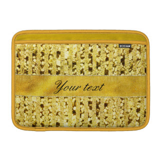 Faux Gold Foil Stripes and Confetti MacBook Air Sleeve