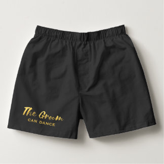 Faux Gold Foil The Groom Wedding Dance Underwear Boxers