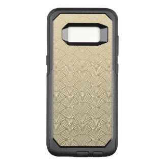 Faux Gold Foil White Circle Fan Pattern OtterBox Commuter Samsung Galaxy S8 Case