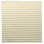 Faux Gold Foil White Stripes Pattern Napkin
