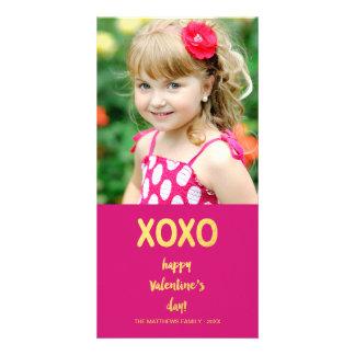 Faux Gold Foil XOXO | Valentine's Day Photo Card 2