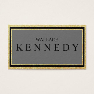 Faux Gold FoilBusiness Cards Slate Gray