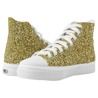 Faux Gold Glitter And Glamour Shoes