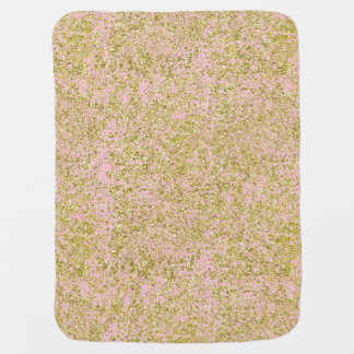 Faux Gold Glitter Background Pattern Sparkle Pink Baby Blanket