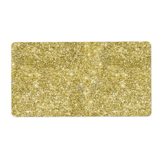 Faux Gold Glitter Background Pattern Sparkle Shipping Label
