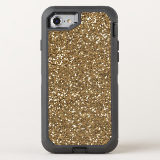 Faux gold glitter bling 7 quatrefoil otterbox OtterBox defender iPhone 8/7 case