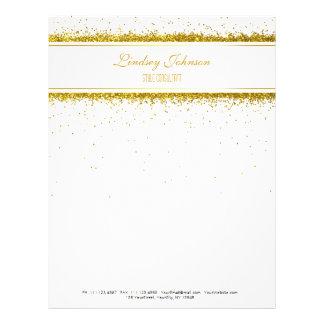 Faux Gold Glitter Confetti Designer - Letterhead